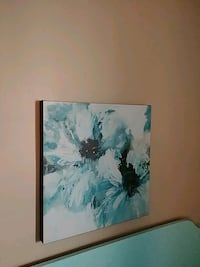 white and blue flower painting Rayne, 70578