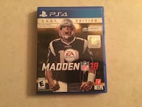 Madden NFL 18 PS4 game case West Lafayette, 47906