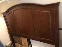 brown wooden headboard and footboard Rockville