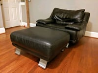 Black Leather Armchair and Ottoman (Italsofa) Knoxville, 37919