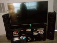 black flat screen TV with black wooden TV stand Augusta, 30909