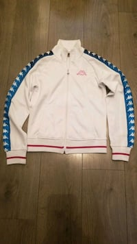 Womens XS pink and blue Kappa track jacket