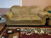 brown and beige floral fabric 2-seat sofa Delta, V4C 6R8