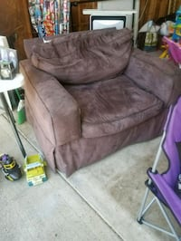 brown fabric padded sofa chair Vancouver, 98684