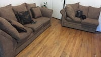 two gray fabric sofa chairs Montreal, H1M