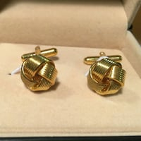 Awesome Cufflinks in Golden Color in Box Mississauga, L5R 3A9