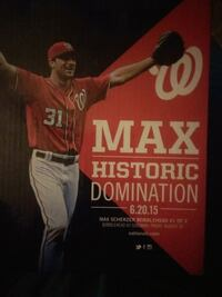Washington Nationals Max Scherzer sga bobblehead   Woodbridge, 22193