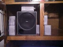SONY SURROUND 6-1 Stereo system 5 sat/spk's & Center chl, &  Subwoofer