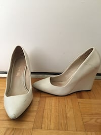 pair of white leather pointed-toe heels Toronto, M4V