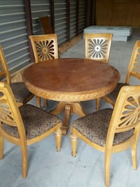Table / table leaf and six chairs Prosper, 75078
