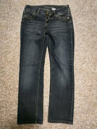 black denim straight-cut jeans Winnipeg, R2J 1A6