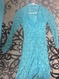 Women's teal floral long sleeve dress London, N6E 1E7