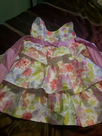 white, pink, and green floral dress Edmonton, T5A 2A9