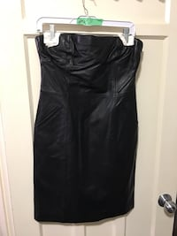 Danier Black leather sleeveless mini dress Toronto, M8V 4E8