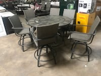 7 Piece Bar Height Table & Chairs Patio Set  Farmers Branch, 75234