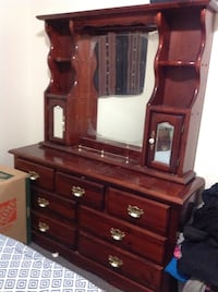 brown wooden dresser with mirror Surrey, V3R 5V7