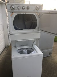 white front-load clothes washer Surrey, V3R