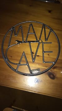 MAN CAVE METAL ART father's day King, L0G
