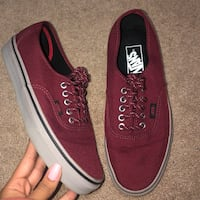 Pair of red vans low-top sneakers Arlington, 22204