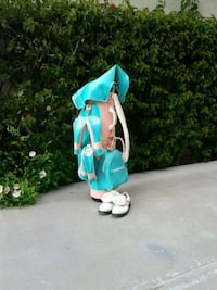 Golf Bag. Turquoise and Pink