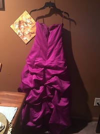 pink satin strapless ruffle maxi dress Reisterstown, 21136