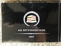 2004 Cadillac Escalade Owners Manual with Case Lutherville Timonium, 21093
