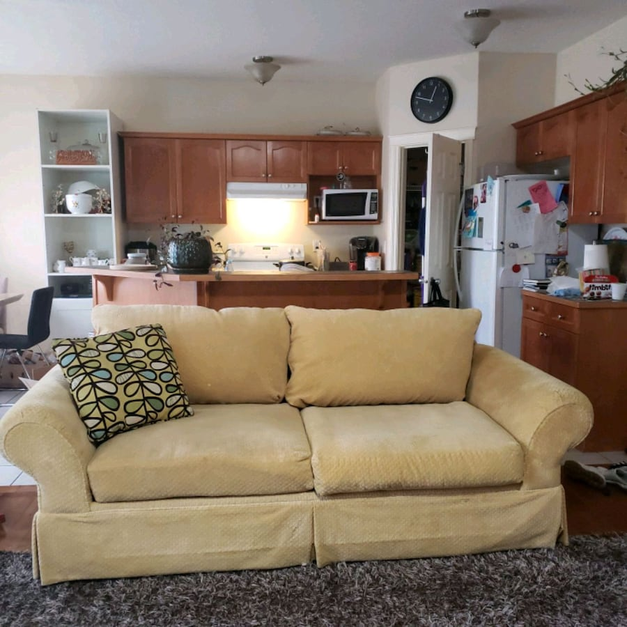 Gorgeous Canadian made yellow couch /sofa by urban barn