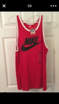 New Nike red Tank Top Shirt Size Medium New with Tags Houston, 77077