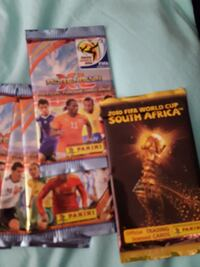 2010 Panini Fifa trading cards-11 packets unopened