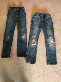 Baby gap jeans. One regular and one slim style. Fits 7-8 years old Prince George, V2N