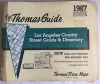 1987 Los Angeles County Thomas Guide Map Street Guide
