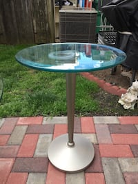 black and gray metal frame glass top table Gaithersburg, 20878