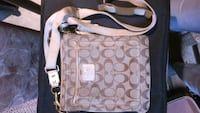 brown and white Coach monogram shoulder bag Edmonton, T5C 1R5