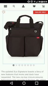 skip hop diaper bag Laval