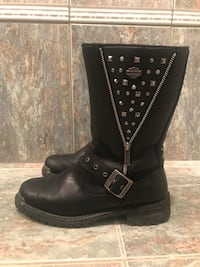 Genuine Harley Davidson Womens leather riding boots size 9 West Milford, 07480