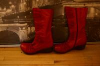 pair of red leather boots Edmonton, T6E 5G8