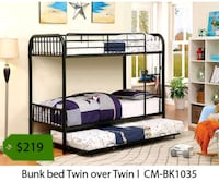 Bunk bed twin over twin  Santa Fe Springs, 90670