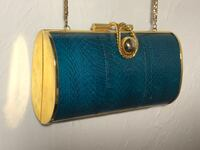 blue and brown leather handbag Palm Springs, 92264