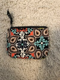 black, green, and red floral wristlet Waldorf, 20601