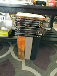 Harry Potter All Dvds and 3 hardcover books