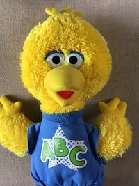 "Sesame Street ABC Big Bird Talking Singing 15"" plush, Hasbro 2010 Ashburn, 20147"