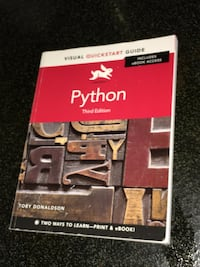 Python third edition by Toby Donaldson book Edmonton, T5H 2X2