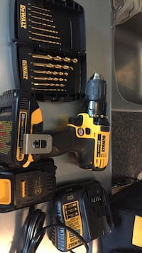 black and yellow DeWalt cordless power drill Toronto, M8Y