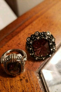 silver-colored ring with red gemstone Winston-Salem