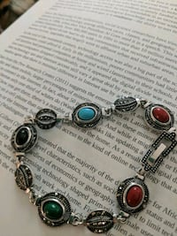 silver and black beaded bracelet Bensalem, 19020