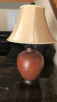 Brown Glass Lamp Centreville