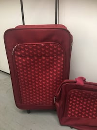red 2-pieces softside luggage
