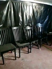 Refinished black chairs Lincoln Park, 48146