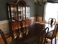 Brown wooden dining table set North Whitehall, 18069