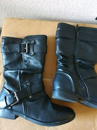 Girls black boots size 8. Worn two or three time Tulsa